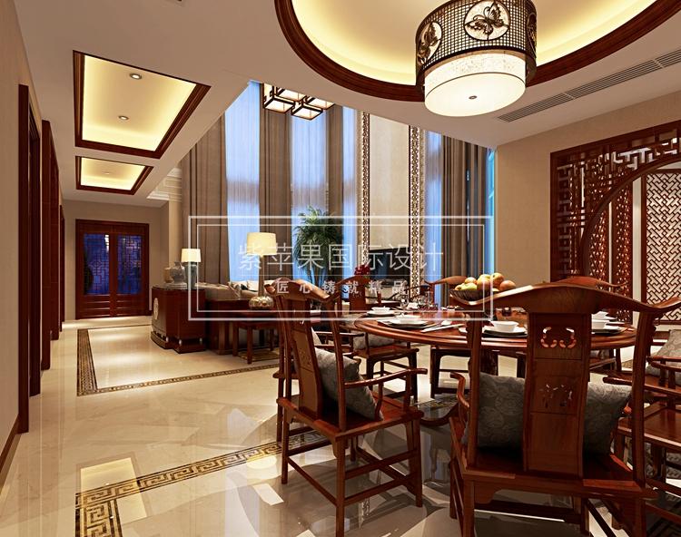 上海别墅中式装修——中式婚房设计